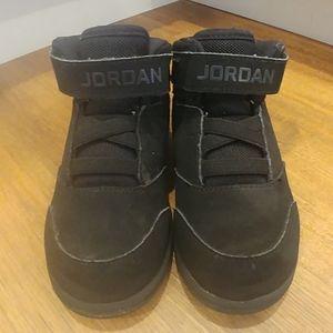 Kids Black AIR JORDAN High Top Athletic Shoes 9C